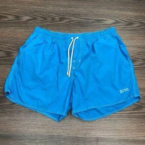 Hugo Boss Solid Blue Swim Trunks L